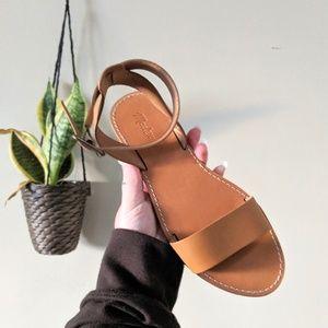 NWOT MADEWELL Boardwalk Ankle Strap Sandal